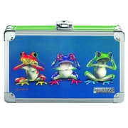 "Vaultz® 3D Locking Lenticular Pencil Box, 5.5"" x 8.25"" x 2.5"", Frogs (VZ00385)"