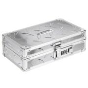 "Vaultz® Locking Gear Box, 5.5"" x 8.25"" x 2.5"", Silver Treadplate (VZ00460)"