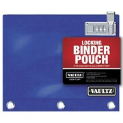 "Vaultz® Locking Binder Pouch, 8"" x 10"", Blue (VZ00519)"