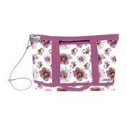 Vaultz® Locking Zipper Tote Bag, Pink/Purple Floral (VZ00679)