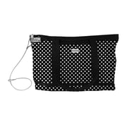 Vaultz® Locking Zipper Tote Bag , Black/White Polka Dots (VZ00682)