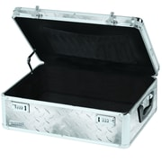 Vaultz® Locking Storage Chest with Tether, Silver Treadplate (VZ00711)