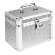 Vaultz® Locking Garage Box, Silver Treadplate (VZ00715)
