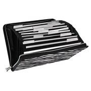 Vaultz® Locking Expanding File, 13-Pocket, Letter, Zebra (VZ00753)