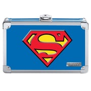 "Vaultz® Superman Pencil Box, 5.5"" x 8.25"" x 2.5"", Blue (VZ00879)"