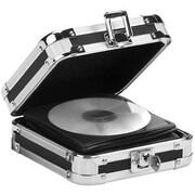 "Vaultz® Locking CD Wallet, 2.5"" x 6.25"" x 7"", 24 CD Capacity, Black (VZ01126)"