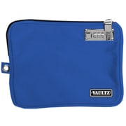 "Vaultz® Small Locking Electronics Pouch with Tether, 5"" x 8"", Blue (VZ03431)"