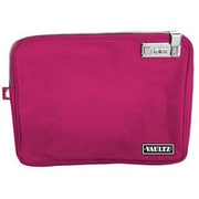 "Vaultz® Small Locking Electronics Pouch with Tether, 5"" x 8"", Pink (VZ03432)"