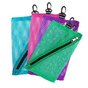 Vaultz® Mesh Storage Bags, 4/Pack, Assorted Colors and Sizes (VZ03483)