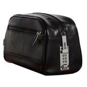 "Vaultz® Locking Leather Travel Kit, 5.75"" x 5"" x 10"", Black (VZ03510)"