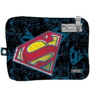 "Vaultz® Medium Electronics Pouch with Tether, 7.5"" x 9"", Blue Superman (VZ03543)"