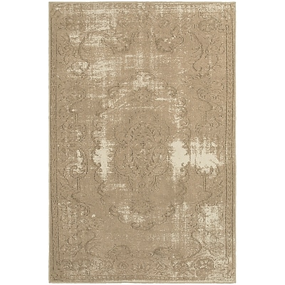 "StyleHaven Traditional Shabby Chic Polypropylene 6'7"" X 9'6"" Tan/Ivory Area Rug (WCLO6314C6X9L)"""