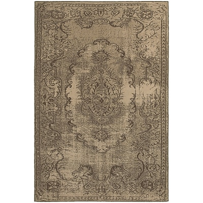"StyleHaven Traditional Shabby Chic Polypropylene 6'7"" X 9'6"" Tan/Brown Area Rug (WCLO6314D6X9L)"""