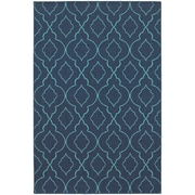 "StyleHaven Outdoor Lattice Polypropylene 3'7"" X 5'6"" Navy/Blue Area Rug (WMEI7541B4X6L)"