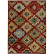 """StyleHaven Transitional Southwest Tribal Nylon/Polypropylene 7'10"""" X 10'10"""" Red/Multi Area Rug (WSDN5936D8X11L)"""