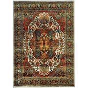 """StyleHaven Transitional Traditional Medallion Nylon/Polypropylene 3'10"""" X 5'5"""" Red/Multi Area Rug (WSDN6382B4X6L)"""