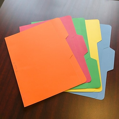 Find It® Letter 1/3 Cut All Tab Interior File Folder, Assorted, 80/Pack