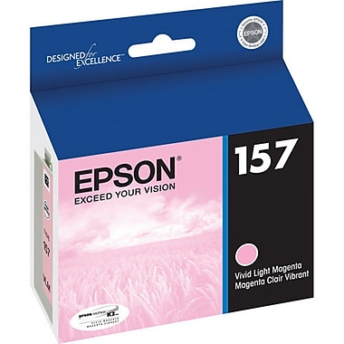 Epson 157 Vivid Light Magenta Ink Cartridge, (T157620)