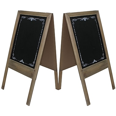 Cathay Importers Double-Sided Chalkboard Easel Display Stand, 15