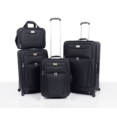 VIA Rail Canada Brentwood Bay 2.0 4-Piece Set, Black, (V7404)