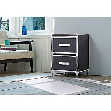 Homestar 2-Drawer Fabric Dresser, Black, (ZH151950BL)