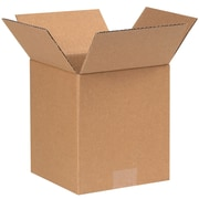 4''x4''x5'' Standard Corrugated Shipping Box, 200#/ECT, 25/Bundle (445)