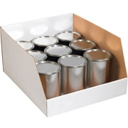 "Partners Brand Jumbo Open Top Bin Boxes, 20"" x 18"" x 10"", White, 25/Bundle (BINJ201810)"