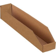 "Partners Brand Open Top Bin Boxes, 4"" x 24"" x 4 1/2"", Kraft, 50/Bundle (BINMT424K)"