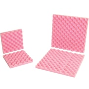 "Partners Brand Anti-Static Convoluted Foam Sets, 24"" x 24"" x 2"", Pink, 6/Sets per Case (FCSA24242)"