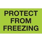 "Tape Logic® Climate Labels, ""Protect From Freezing"", 3"" x 5"", Fluorescent Green, 500/Roll (DL1329)"