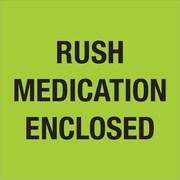 "Tape Logic® Labels, ""Rush - Medication Enclosed"", Fluorescent Green, 500/Roll (DL1338)"