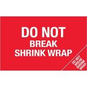 "Tape Logic® Flame Labels, ""Do Not Break Shrink Wrap"" (Bill of Lading), 5"" x 8"", Red/White, 500/Roll (DL1392)"