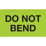"Tape Logic® Labels, ""Do Not Bend"", 3"" x 5"", Fluorescent Green, 500/Roll (DL2343)"