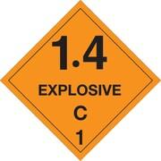 """Tape Logic® Labels, """"Explosive - 1.4C - 1, 4"""" x 4"""", Orange/Black, 500/Roll (DL5031)"""