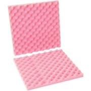 "Partners Brand Anti-Static Convoluted Foam Sets, 16"" x 16"" x 2"", Pink, 12/Sets per Case (FCSA16162)"