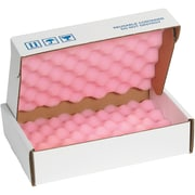 "Partners Brand Anti-Static Foam Shippers, 12"" x 8"" x 2 3/4"", Pink/White, 24/Case (FSA1282)"