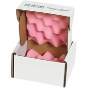 "Partners Brand Anti-Static Foam Shippers, 5"" x 5"" x 3"", Pink/White, 24/Case (FSA553)"