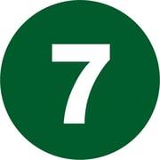 "Tape Logic® Number Labels, ""7"", 3"" Circle, Dark Green, 500/Roll (DL1347)"