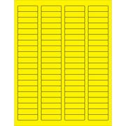 "Tape Logic® Rectangle Laser Labels, 1 3/4"" x 1/2"", Fluorescent Yellow, 8000/Case (LL170YE)"