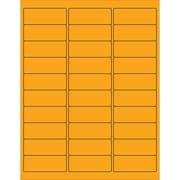 """Tape Logic® Rectangle Laser Labels, 2 5/8"""" x 1"""", Fluorescent Orange, 3000/Case (LL173OR)"""