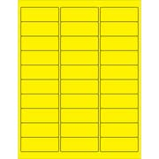 "Tape Logic® Rectangle Laser Labels, 2 5/8"" x 1"", Fluorescent Yellow, 3000/Case (LL173YE)"