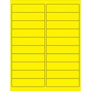 "Tape Logic® Rectangle Laser Labels, 4"" x 1"", Fluorescent Yellow, 2000/Case (LL177YE)"