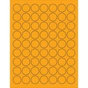 "Tape Logic® Circle Laser Labels, 1"", Fluorescent Orange, 6300/Case (LL191OR)"