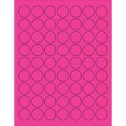 "Tape Logic® Circle Laser Labels, 1"", Fluorescent Pink, 6300/Case (LL191PK)"