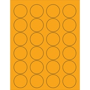 "Tape Logic® Circle Laser Labels, 1 5/8"", Fluorescent Orange, 2400/Case (LL193OR)"