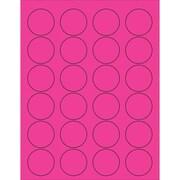 "Tape Logic® Circle Laser Labels, 1 5/8"", Fluorescent Pink, 2400/Case (LL193PK)"