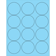 "Tape Logic® Circle Laser Labels, 2 1/2"", Pastel Blue, 1200/Case (LL194BE)"