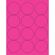 "Tape Logic® Circle Laser Labels, 2 1/2"", Fluorescent Pink, 1200/Case (LL194PK)"