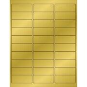 """Tape Logic® Foil Rectangle Laser Labels, 2 5/8"""" x 1"""", Gold, 3000/Case (LL210GD)"""