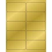 """Tape Logic® Foil Rectangle Laser Labels, 4"""" x 2"""", Gold, 1000/Case (LL211GD)"""